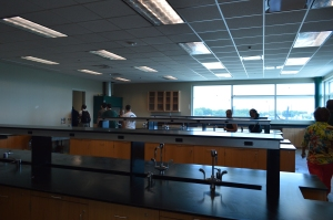 Inside one of the new labs that overlooks the golf facility and athletic fields. Photo: MAGIS