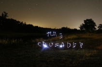 Light writing at the Media Camp at the RLC. Photo: The Crusader