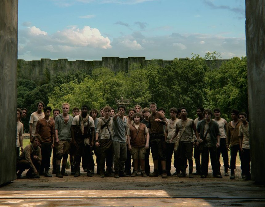 "Full cast scene from ""The Maze Runner."" (Photo courtesy 20th Century Fox/MCT)"