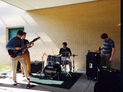 Students jam out during the Crusader Arts Festival. Photo: MAGIS